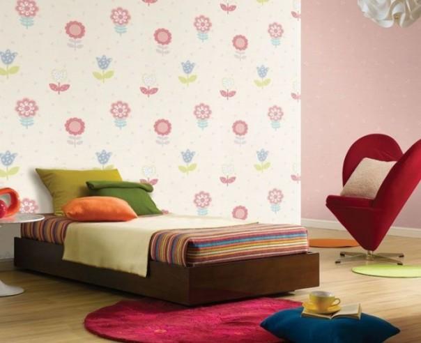 Trang trí giấy dán tường cho phòng trẻ em